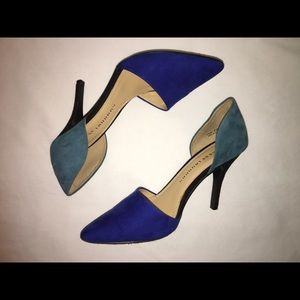Chinese Laundry Two-Toned Blue D'Orsay Stiletto